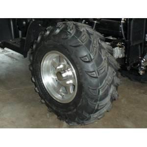 2 pneus arrières Quad 4x4 25/10-12 Innova/CST pour une adhérence parfaite en terrain gras et une grande longévité