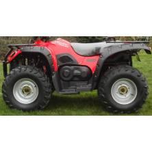 Lot de 4 roues jantes tôle Kazuma J500 et pneus neufs 25/8-12 25/10-12