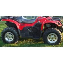 Lot de 4 roues jantes alu Kazuma J500 et pneus neufs 25/8-12 25/10-12