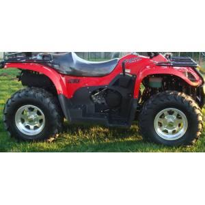 Lot de 4 roues jantes alu entraxe 115mm Kazuma J500 et pneus neufs 25/8-12 25/10-12