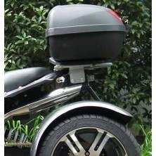 Porte bagage Coffre Top Case Standard SPY-RACING Jinling, se pose à la place du dosseret