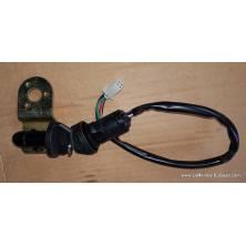 Contacteur à clé protégé et verrou de blocage du guidon avec support EGL Madmax etc fiche mâle